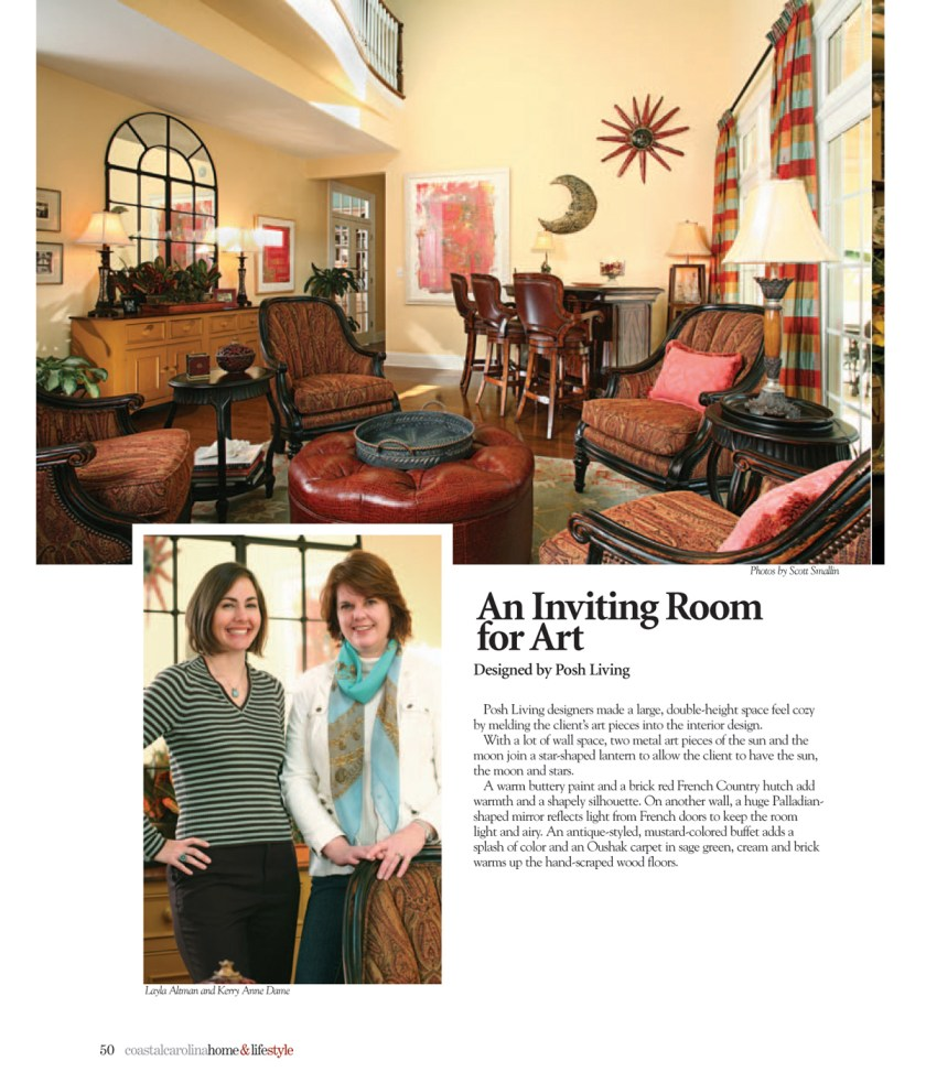 A Room Designed Around the Homeowners' Art Collection