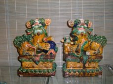 Polychrome Foo Dogs
