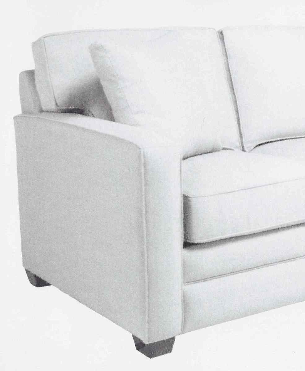 Modern Sofa with a square arm saves space.