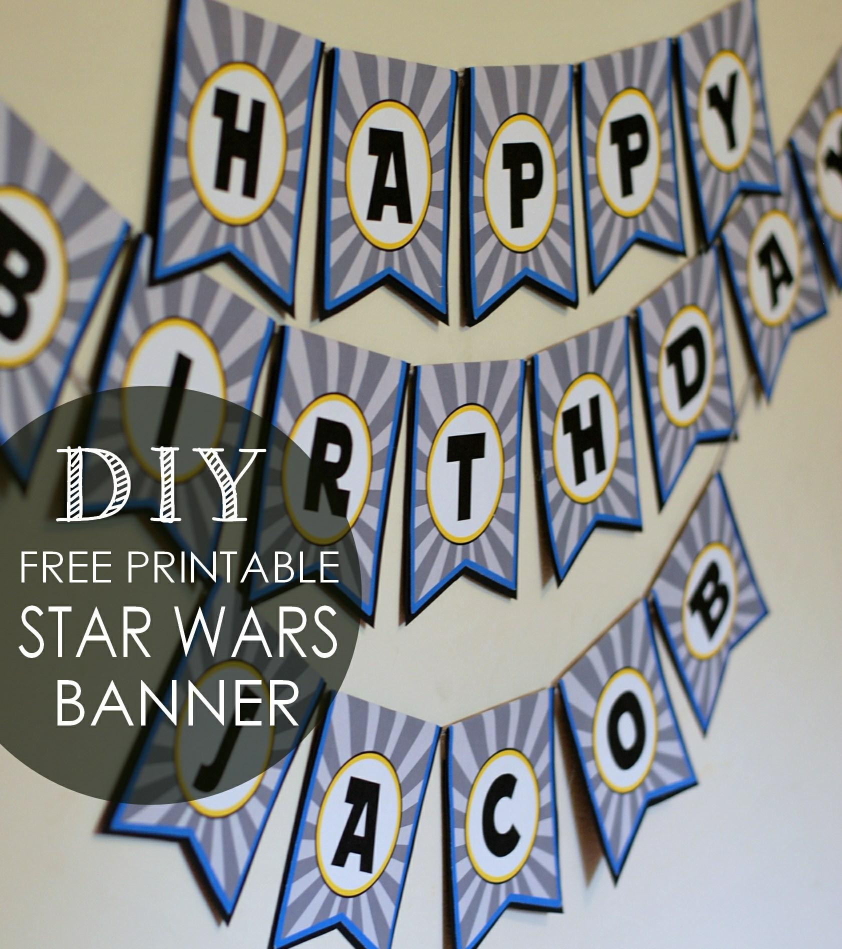 Diy Star Wars Birthday Banner Free Printables Posh Tart