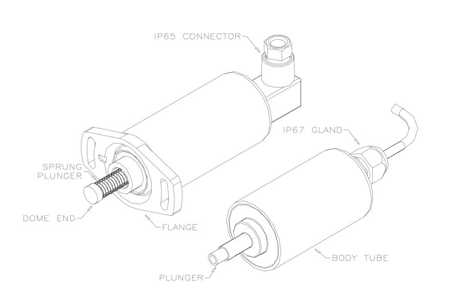 P103 capteur linéaire 2 à 50mm dessin