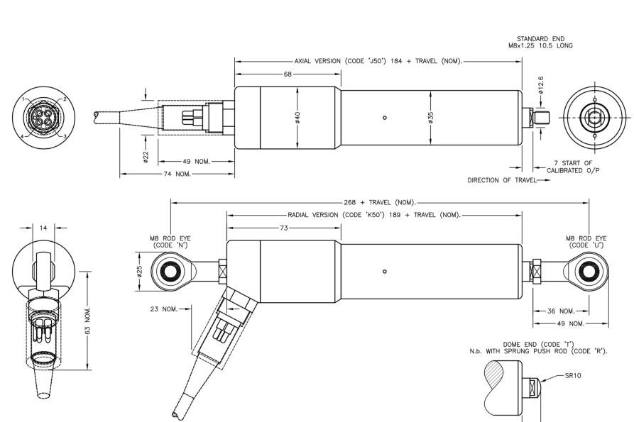 LIPS S125 capteur lineaire submersible en profondeur IP68