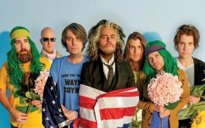 Concert de rock dans des bulles