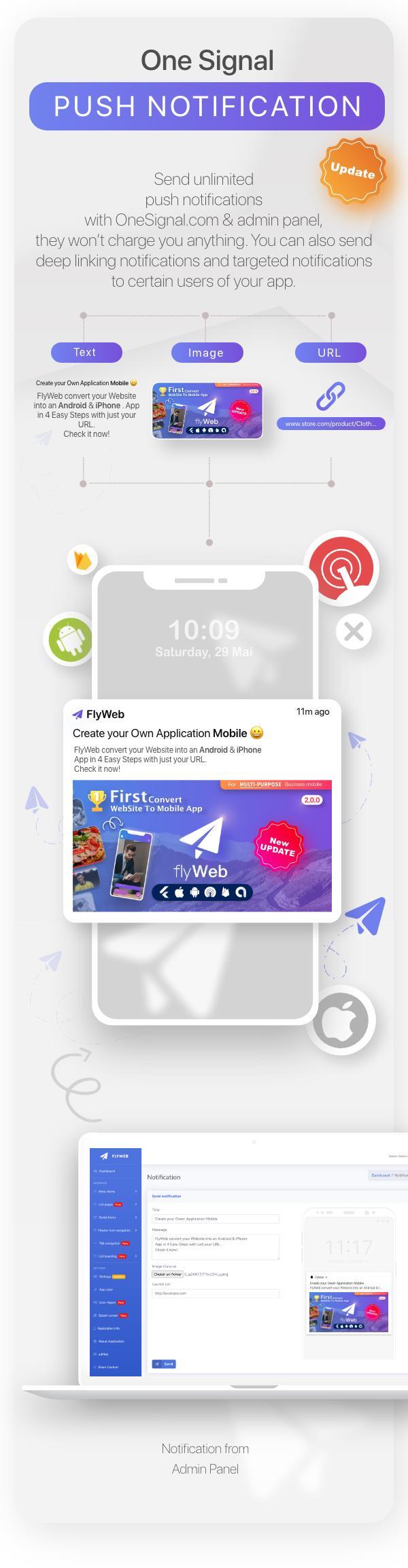 FlyWeb for Web to App Convertor Flutter + Admin Panel - 19