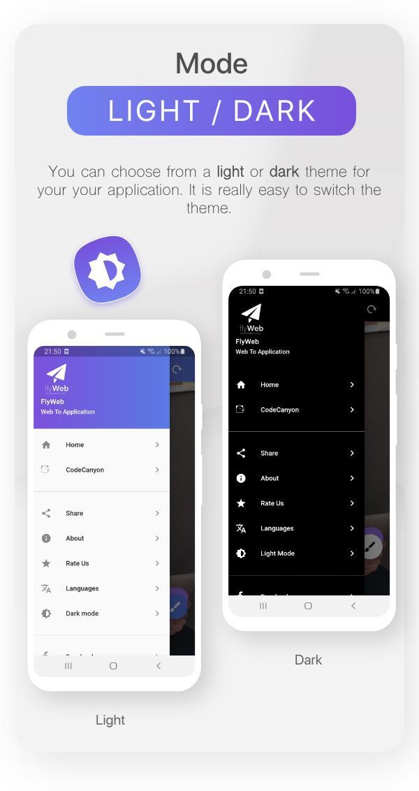 FlyWeb for Web to App Convertor Flutter + Admin Panel - 27