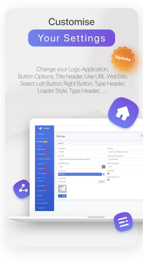 FlyWeb for Web to App Convertor Flutter + Admin Panel - 31