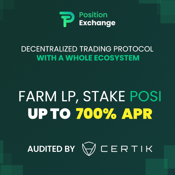 Farming POSI to get APR up to 1000%