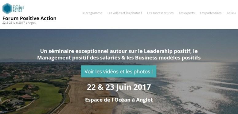 Site web Forum Positive Action anglet cote basque