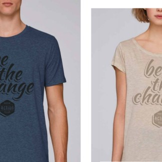 "Tee-shirts ""Be the change"""