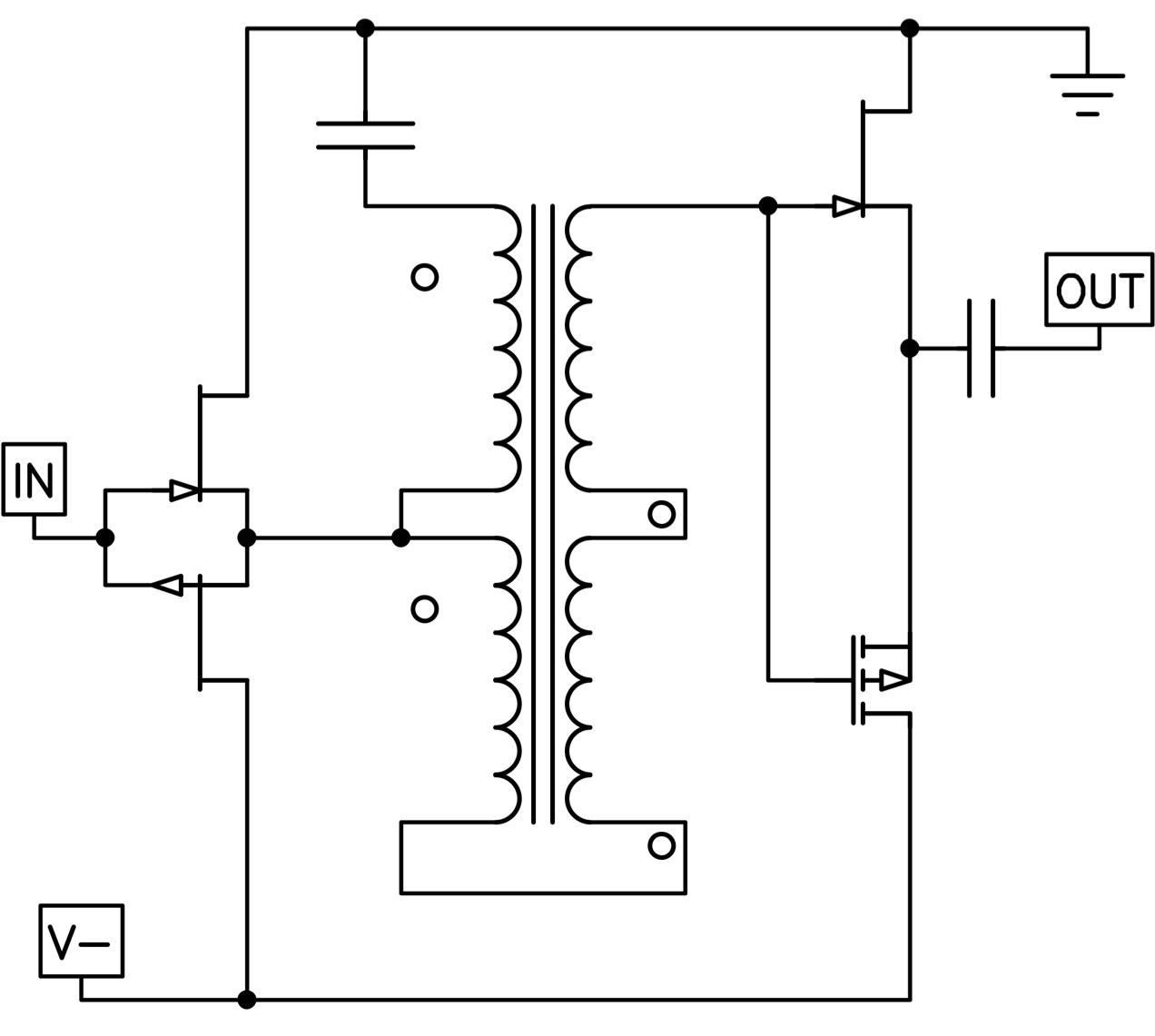Stereo Power Amplifier Schematics