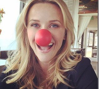 """Reese Witherspoon Supported """"Red Nose Day"""""""