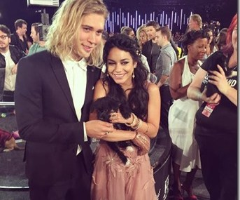 Austin Butler And Vanessa Hudgens Arrive At VMAs Looking Classy With This Pup!