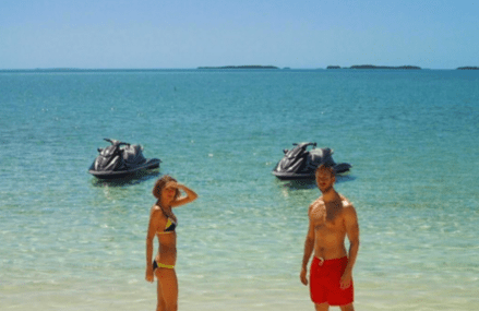 Calvin Harris and Taylor Swift's cute vacation pictures!