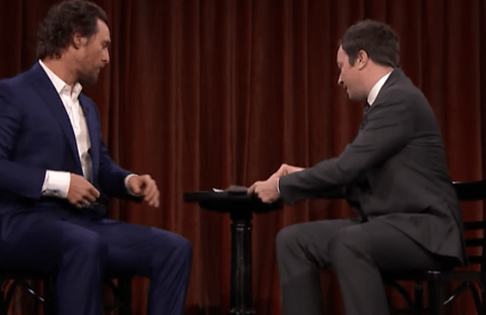 VIDEO: Jimmy Fallon & Matthew McConaughy act out hilarious skit!