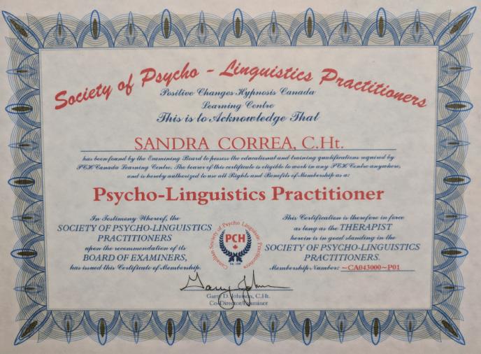 Psycho-Linguistics Certificate