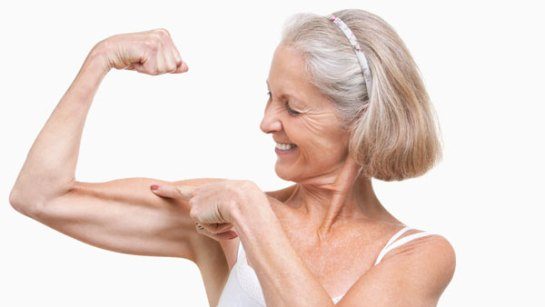 senior woman muscles