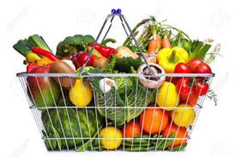 grocery basket fruit veges