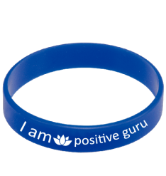 positive guru wrist band blue