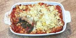 Chickpea potato casserole