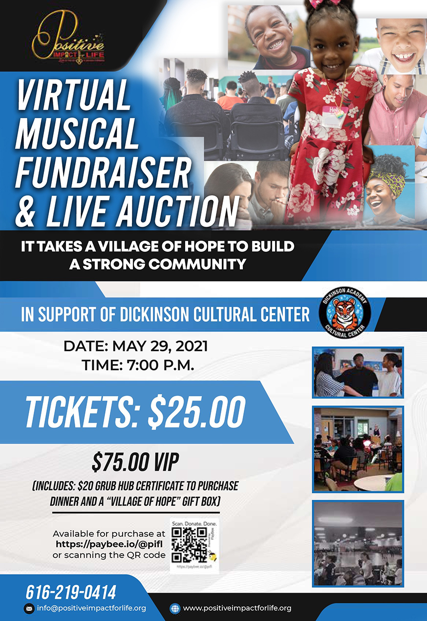Flyer - Virtual Musical Fundraiser