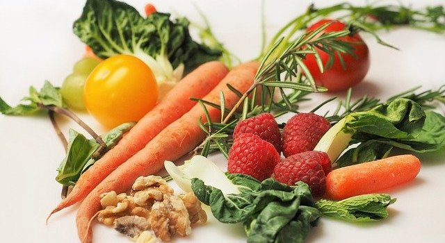 Variety of fresh produce and nuts_nutrition for brain health