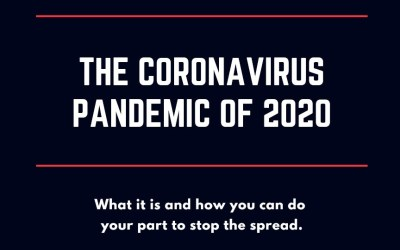 The Coronavirus Pandemic of 2020: What it is and how you can do your part to stop the spread.