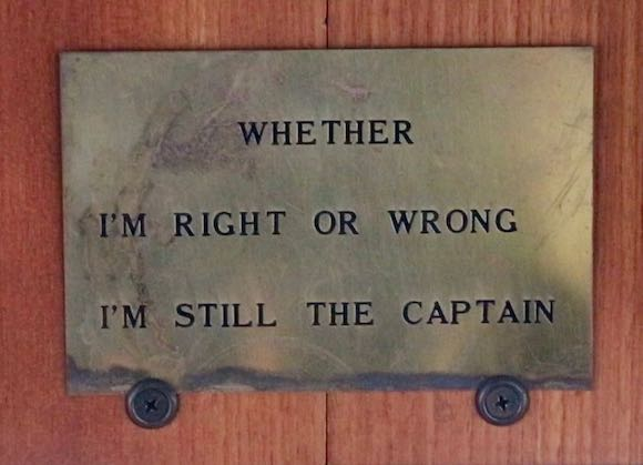 Captain is always right blog