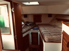 The double berth aboard Mabel J