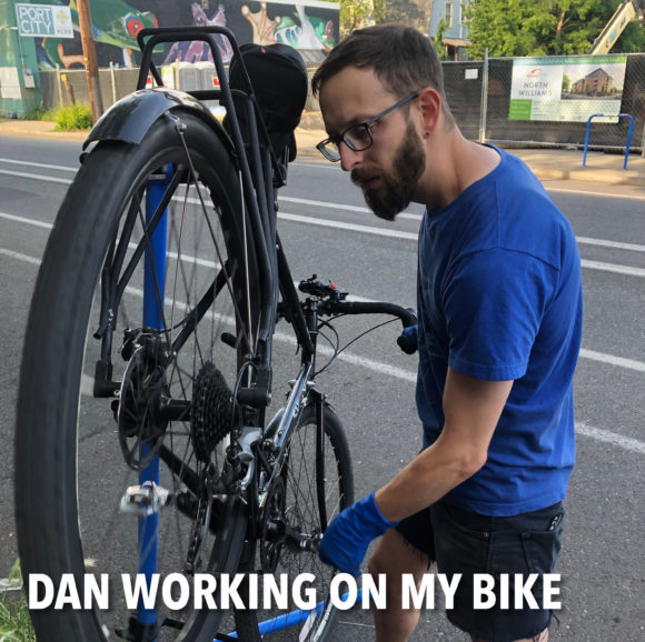 Dan on my bike