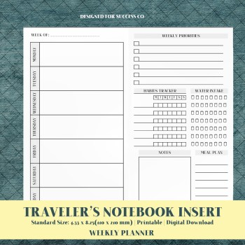Travelers Note Inserts Printable