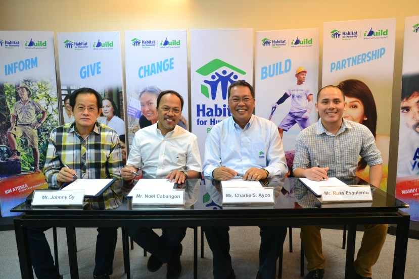 Johnny Sy of Praise Inc., Noel Cabangon, Charlie Ayco of Habitat for Humanity, and Russ Esquierdo from Zedd