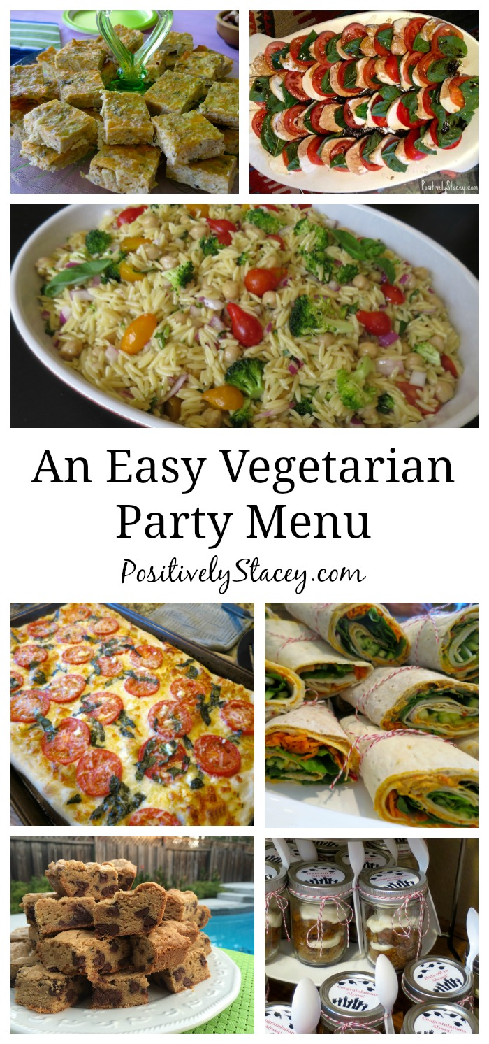 A super easy make-ahead vegetarian party menu for you! Everything is delicious!