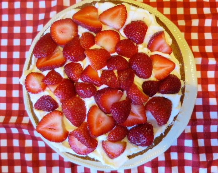 A Low-Sugar Strawberry Layered Greek Yogurt Cake
