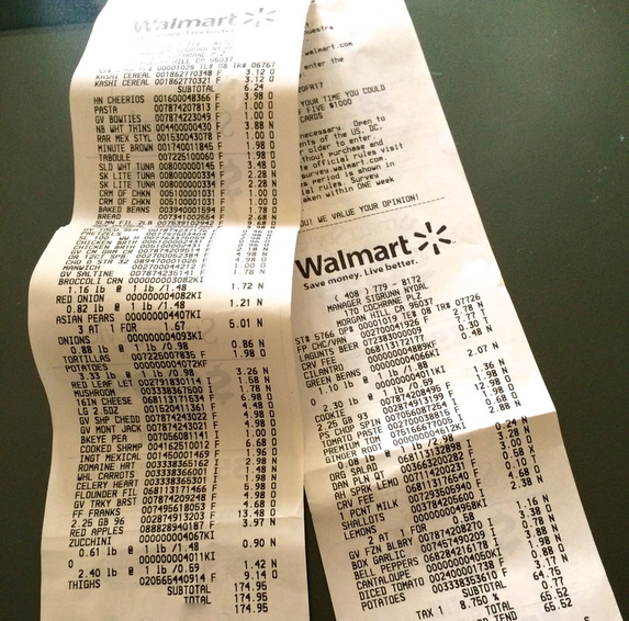 Grocery Receipts