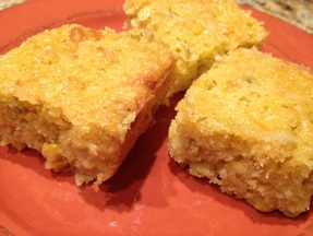 Green Chili Cheesy Cornbread - Yummy!