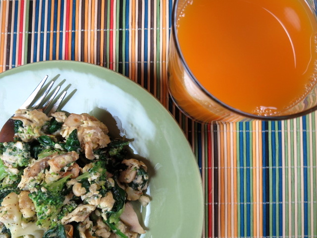Veggie Scramble With V8 Golden Goodness