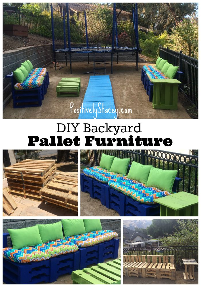 It is amazing what can be done with pallets! This DIY Backyard Pallet Furniture is so cool!