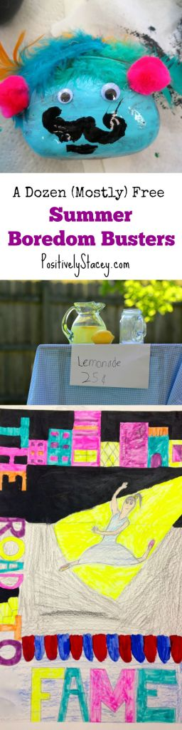 Keep the kids busy! Here are 12 simple and easy ideas to keep the kids busy and have fun!