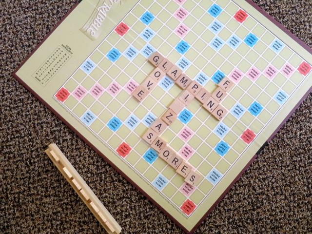Scrabble #FallGlamping