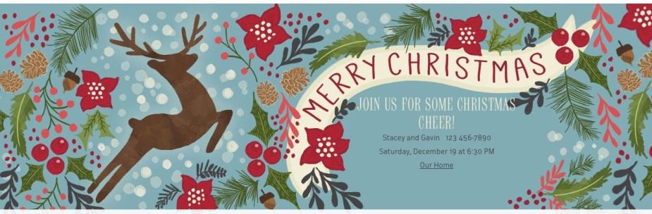 Evite Christmas Invitation