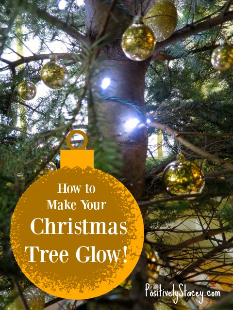 How to Make Your Christmas Tree Glow! This is my amazing trick to really make your tree shine!