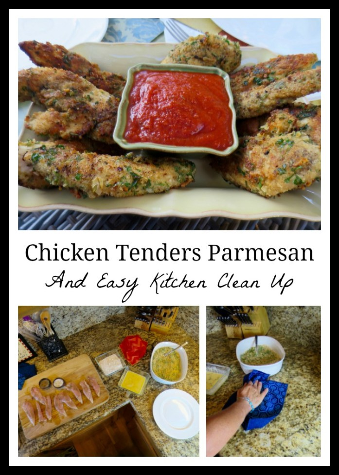 Chicken Tenders Parmesan And Easy Kitchen Clean Up
