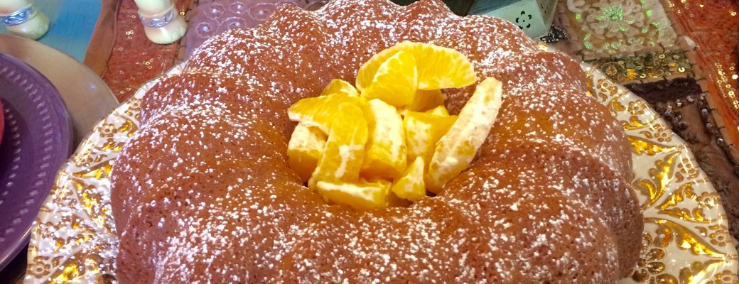 Moroccan  Orange Cake Topped with Citrus Fruit