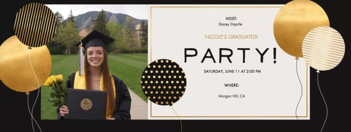 Nicole Evite Graduation Party