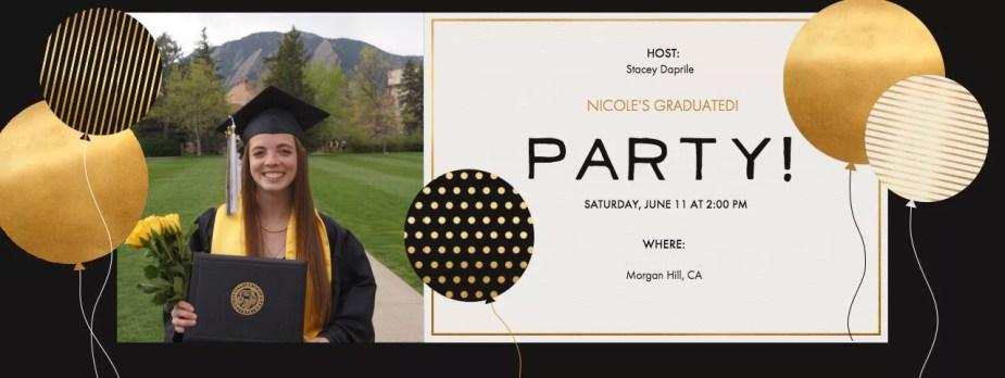Nicole Evite Graduation Party