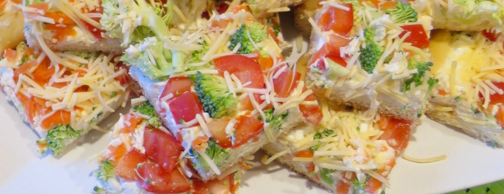 Cool Veggie and Ranch Pizza Appetizer #SundaySupper