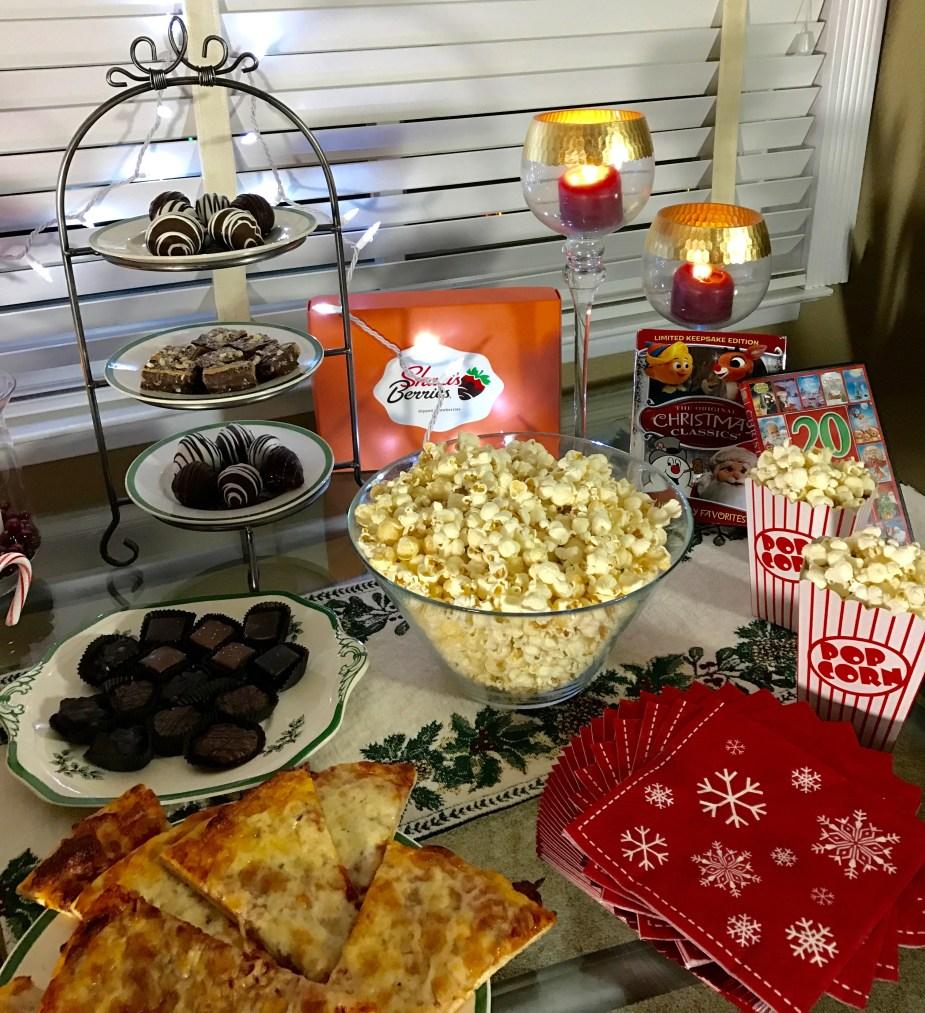 Enjoying a Favorite Family Christmas Movie Night