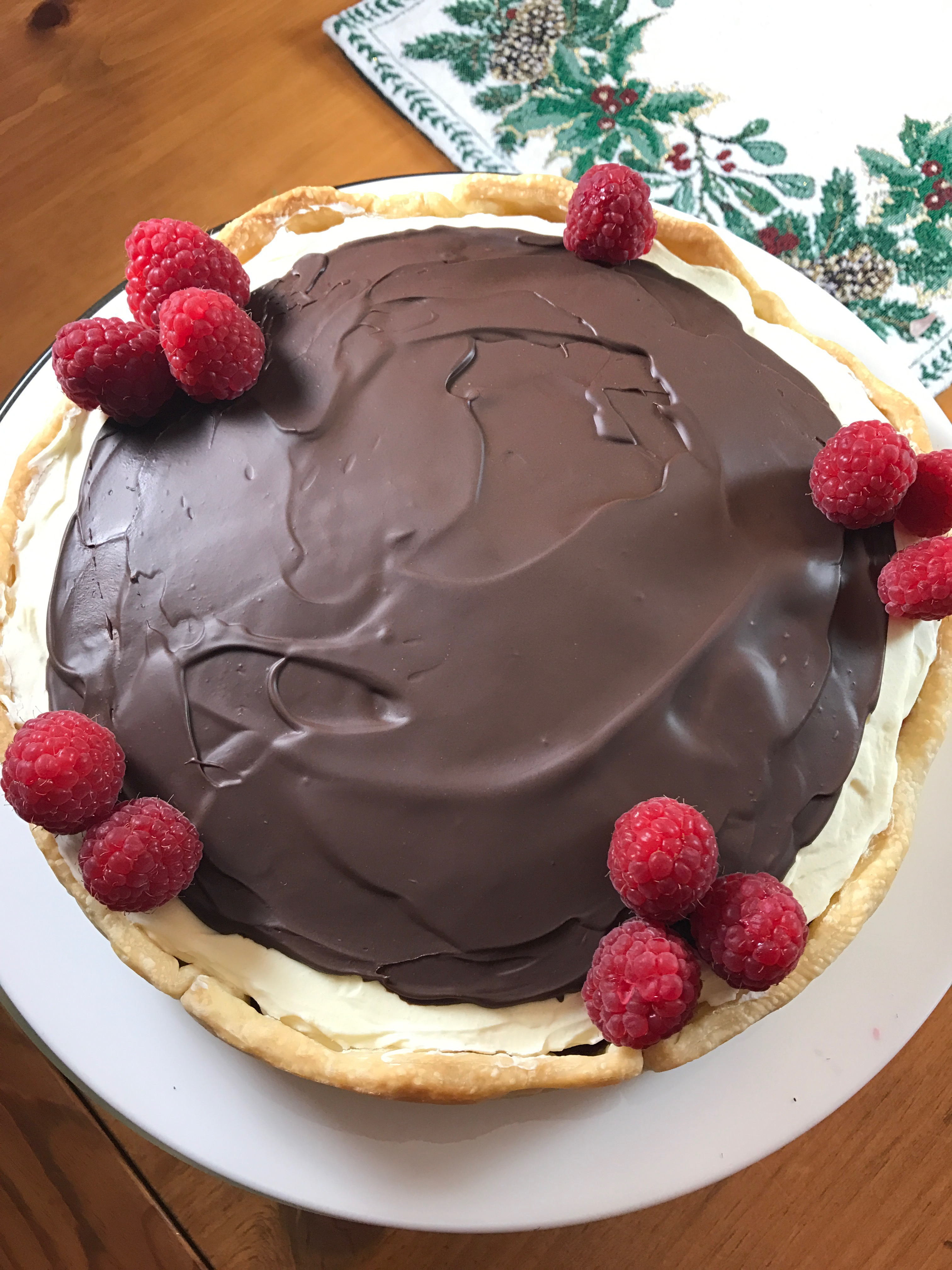 White And Dark Chocolate Raspberry Tart Positively Stacey