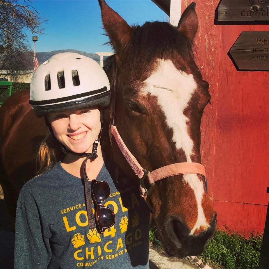 Sophia and horse