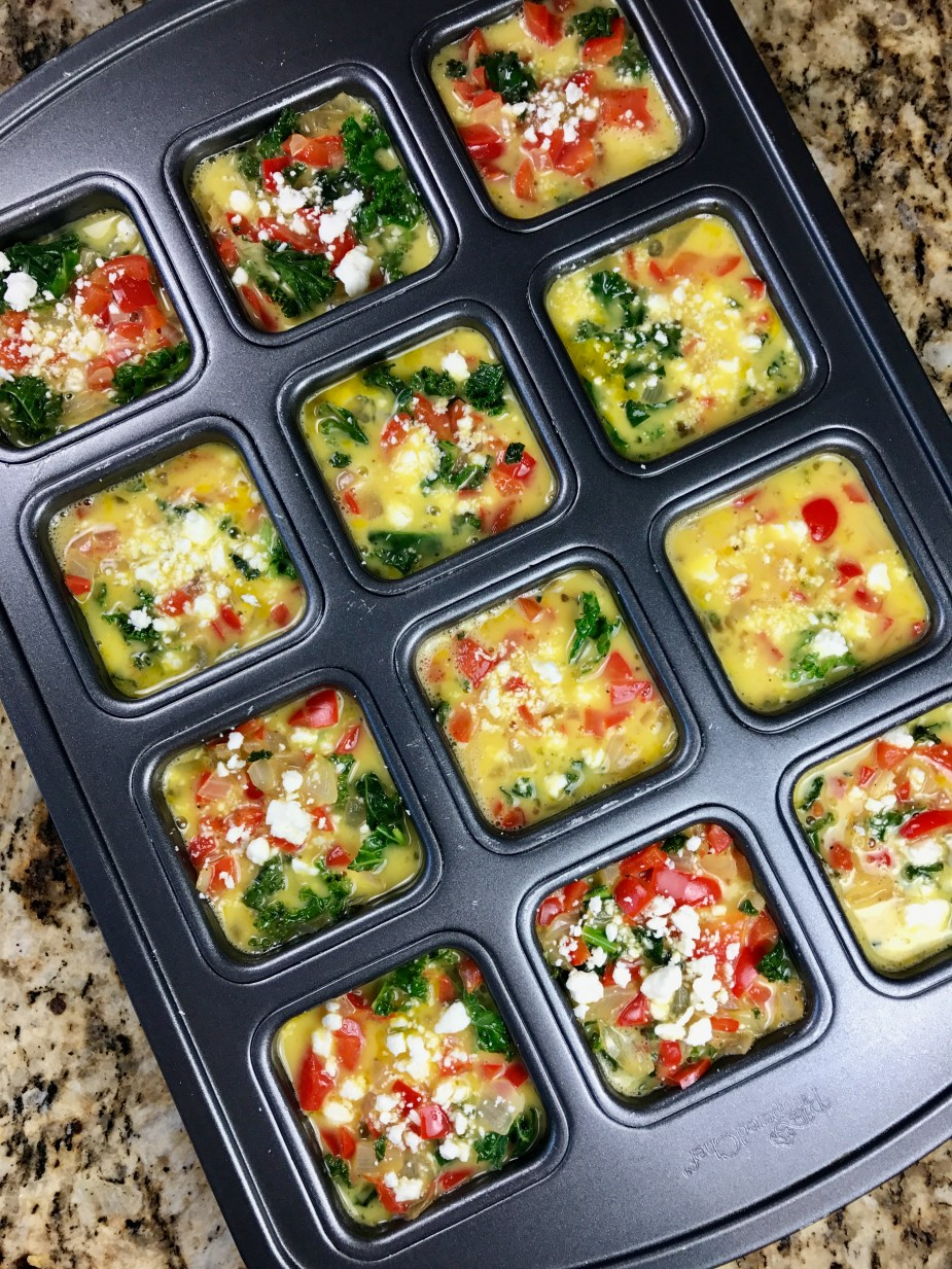 "Make-Ahead Veggie Egg ""Muffins"""
